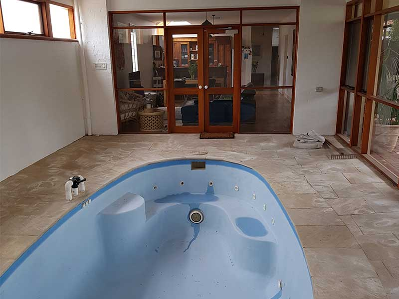 Home Alteration - Fill in Indoor swimming pool to create a living area